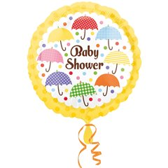 Baby Umbrellas Shower Standard Foil Balloon, Amscan 2674301