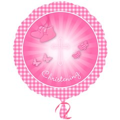 Christening Booties Pink  Foil Balloon - 18''/45 cm, Amscan 2930601