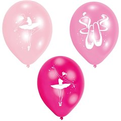 "9"" Ballet Printed Latex Balloons Assorted, Amscan 998309, Pack of 6 pieces"