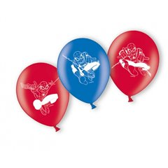 "9"" Printed Latex Balloons, Spiderman Assorted, Amscan 998233, Pack of 6 pieces"