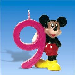 Lumanare aniversara Cifra 9 pentru tort cu Mickey Mouse, Amscan 551108