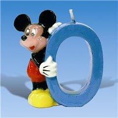 Lumanare pentru tort - Cifra 0 cu Mickey Mouse, Amscan 551099