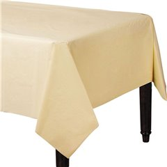 Fata de masa Vanilla Cream din plastic - 137x274cm, Amscan 77015-57