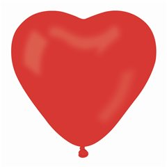 Latex Red 45 Heart Balloons, 6 inch (16 cm), Gemar ACR6.45