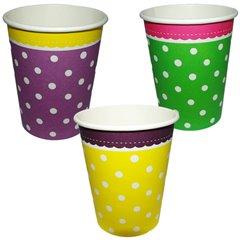 Pahare Carton Garden Party - 250ml, Amscan RM551715, Set 8 buc