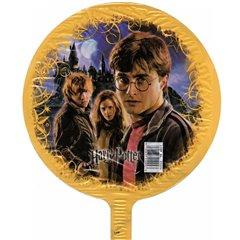 Balon mini folie Harry Potter 23cm + bat si rozeta, Amscan 21224