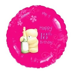 Balon folie 45cm 18th Happy Birthday, Amscan 21493