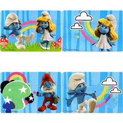 Smurfs Jigsaws for kids - 12x18cm, Amscan 552152, Pack of 4 pieces