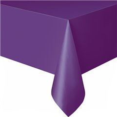 Purple Plastic Table Cover - 137x274 cm , Amscan 77015-25, 1 piece