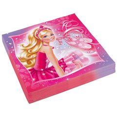 Servetele de masa Barbie Pink Shoes - 33 cm, Amscan 552387, Set 20 buc