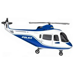 Police Helicopter Super Shape Foil Balloon, Amscan 30441