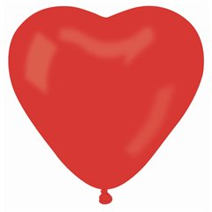 "Red 45 Heart Latex Balloons - 10""/25cm, Gemar ACR.45"