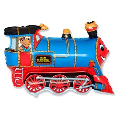Blue Train Supershape Foil Balloon - 80x60cm, Radar F901689