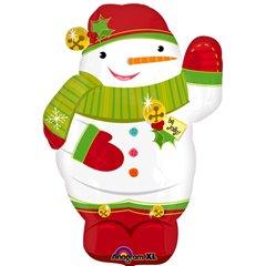 Jolly Snowman Junior Shape Foil Balloon - 36x53cm, Amscan 18410