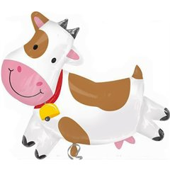 "Cow Super Shape Foil Balloon - 43"" x 31"", Amscan 22985"