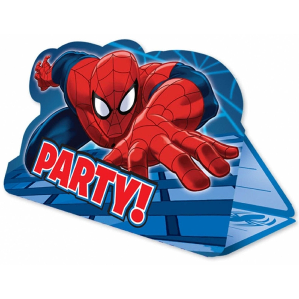 Spiderman Invitation Cards Amscan 999280 Pack of 8 Pieces