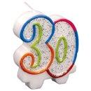 Lumanare aniversara pentru tort - 30 ani, Amscan INT996454, 1 buc