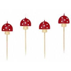 Lumanari pentru tort - Ciupercute, Amscan RM552105, Set 8 buc