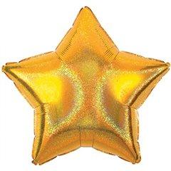 "Balon Mini-Folie Stea Aurie Dazller - 4""/10 cm, Qualatex 545808"
