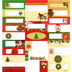 Christmas Labels, Amscan 262020, Pack of 25 pieces