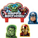 Avengers Figures Candles, Amscan RM171354-55, Pack of 4 Pieces