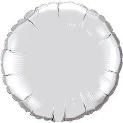 "Silver Round Ultra Shape Foil Balloon - 32""/81cm, Radar F406500P"