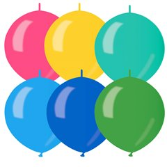 """Assorted Metallic Cony Latex Balloons - 5""""/13 cm, Gemar GLM13.ASS, Pack of 100 pieces"""