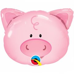 "Balon Folie Figurina Playful Pig  - 14""/36cm, Qualatex 41799"