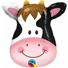 """Cow Mini Shape Foil Balloon - 14""""/36cm, Qualatex 41802"""