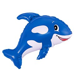 Friendly Whale Super Shape Foil Balloon - 80x90cm, Radar F901630