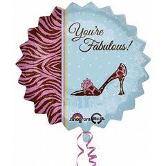 "You're Fabulous! Standard Petite Foil Balloon -18""/45cm,  Amscan 2684401"