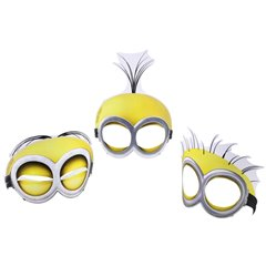 Minions Paper Face Mask , Amscan 998188, Pack of 6 Pieces