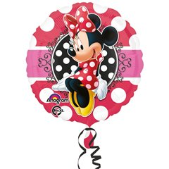 "Minnie Mouse Portrait Standard Foil Balloon - 18""/45cm, Amscan 3064701"