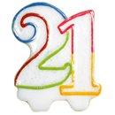 Lumanare aniversare 21 ani pentru tort, Amscan INT996453