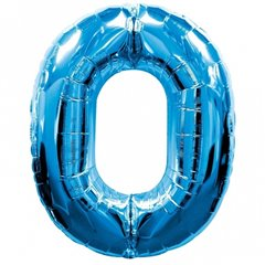 Balon folie figurina cifra 0 albastru - 86cm, Amscan 1347161