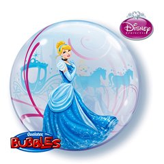 "Cinderella Bubble Balloon - 22""/56cm, Qualatex 41192, 1 piece"