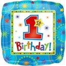 "1st Birthday Boy Foil Balloon - 18""/45cm, Amscan 119290-01"