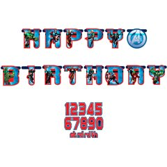 Banner decorativ pentru petrecere Avengers - 1.8 m, Amscan 999251, 1 buc