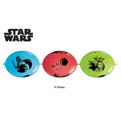 Star Wars Quick Links Party Banner Balloons - 3m, Qualatex 15008, Pack of 10 pieces