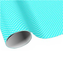 Blue White Polka Dots Wrapping Paper - 70cm x 100 cm, Radar B59763
