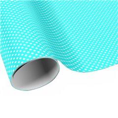 Blue White Polka Dots Wrapping Paper - 70cm x 100 cm, Radar B59763