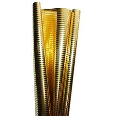 Metallic Gold Packing Paper with stripes - 70cm x 100cm, Radar B65862