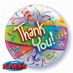 Thank You Bubble Balloon - 22''/56cm, Qualatex 27500