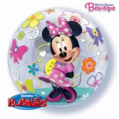 Minnie Mouse Bubble Balloon - 22''/56cm, Qualatex 41065