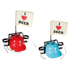 "Drinking helmet ""I love beer"" with flag, OOTB OT93/2066"