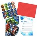 Invitatii de petrecere Avengers, Amscan 999250, Set 8 buc