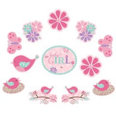 Tweet Baby Girl Value Pack Cutouts, Amscan 191121, Pack of 12 pieces