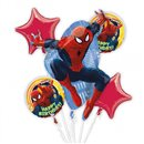 Buchet Baloane Spiderman, Amscan 2708901, Set 5 buc