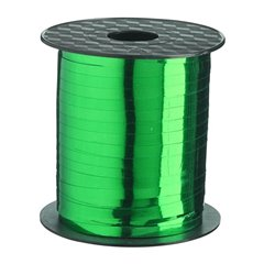 Green Metallic Curling Ribbon - 100m, Radar B14253, 1 Roll