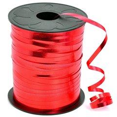 Rafie metalizata rosso (rosie) pentru legat baloane latex sau folie - 100 m, Radar B36101, 1 rola